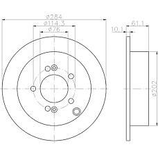 TEXTAR 92134000 (584113A300 / 584112Y300 / DF4287) диск тормозной задний\ Hyundai (Хендай) Santa fe (Санта фе) / Trajet (Траджет) / Tuscon (Туссан) 2.0-2.7 01>