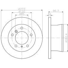 TEXTAR 92137600 (2D0615601A / 9024230312 / 9024230112) диск тормозной Mercedes (Мерседес) sprinter, VW lt28-46