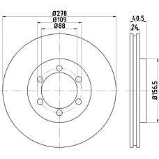 TEXTAR 92138400 (4144105110) диск тормозной передний\ ssang yong Korando (Корандо) / Musso (Муссо) 2.0-3.5 95>