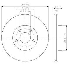 TEXTAR 92141203 (1320352 / 1223663 / 1373369) диск тормозной передний\ Volvo (Вольво) s40 / v50 1.8 / 2.4 / 2.5 / 2.0td 04>