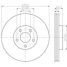 TEXTAR 92141303 (1223664 / 1323560 / 1373370) диск тормозной передний\ Volvo (Вольво) s40 / v50 1.8 / 2.4 / 2.5 / 2.0td 04>