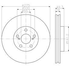 TEXTAR 92142003 (4351220601 / 4351220600 / 4351220590) диск тормозной