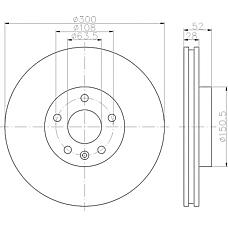 TEXTAR 92159200 (LR000571 / 1500158 / 1379965) диск торм. пер. Mondeo (Мондео) 2007-