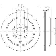TEXTAR 92162500 (42510SCAE50 / 42510S9AE50) диск тормозной Honda (Хонда) cr-v 01-