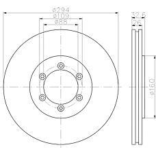 TEXTAR 92162600 (4144108030) диск торм. пер. вент.