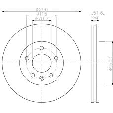 TEXTAR 92165400 (96625948 / 4808848 / 20955857) диск тормозной передний\ Opel (Опель) antara, Chevrolet (Шевроле) captiva 2.0-3.2i / 2.0cdti 06>