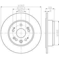 TEXTAR 92165700 (42510S9AN00 / 42510SCAE00 / 42510SMCN00) диск торм. Honda (Хонда) cr-v 02-06 задние 1 шт (min 2 шт)