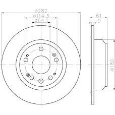 TEXTAR 92165800 (42510SZ3J00) тормозной диск