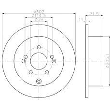 TEXTAR 92166100 (584112B000) диск торм. Hyundai (Хендай) Santa fe (Санта фе) 06- задний 1 шт (min 2 шт)