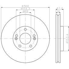 TEXTAR 92166500 (517123K150 / 517123K160 / 517120Z000) диск тормозной передний\Hyundai (Хендай) ix35 / Sonata (Соната) / tucson, Kia (Киа) Sportage (Спортедж) 2.0-3.3 04>