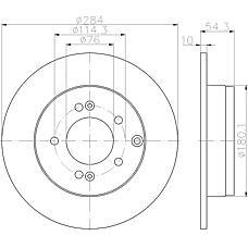 TEXTAR 92166600 (584113K100 / 584113K110 / 584113S100) диск тормозной задний\ Hyundai (Хендай) Sonata (Соната) V 3.3 05>
