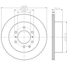 TEXTAR 92167300 (4615A037) диск тормозной