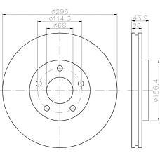 TEXTAR 92167400 (40206JG00A / 40206JD00A / 402061KC1A) диск тормозной передний\ Nissan (Ниссан) qashqai 1.6-2.0i / 1.5dci-2.0dci 07>