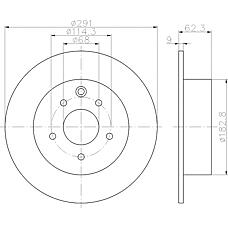 TEXTAR 92167500 (40206JG00A / 43206JD00A / 402061KC1A) диск тормозной