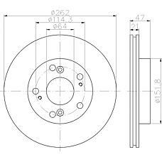 TEXTAR 92175803 (45251S6M000 / 45251SNA000 / 45251S7AJ10) диск тормозной п.\ Honda (Хонда) Civic (Цивик) 1.3-1.8i / d 01>