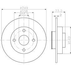 TEXTAR 92194100 (424966 / 424965) заменено на xtx-92194103 диск тормозной