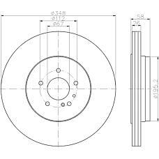 TEXTAR 92198003 (A2204231012 / A220423101264 / 2204231012) диск торм. mb w220 / w221 s500 / s600 / s420cdi задний 1 шт (min 2 шт) 348mm