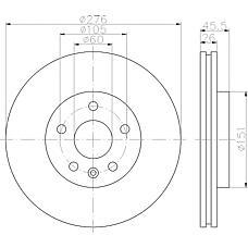 TEXTAR 92198903 (13502045 / 13502044 / 569073) диск тормозной\ Chevrolet (Шевроле) aveo / cruze 1.2-2.0cdi, Opel (Опель) Astra (Астра) j 1.4 / 1.6 / 1.3-2.0cdti 09>