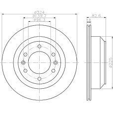 TEXTAR 92203900 (584114H300) диск тормозной