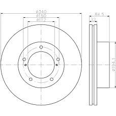 TEXTAR 92204603 (4351260180 / MDC2287) диск тормозной передний\ Toyota (Тойота) land cruiser200 4.7 / 4.5d 08>