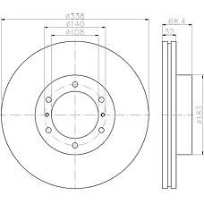 TEXTAR 92223903 (4351260190 / 4351260191) диск тормозной