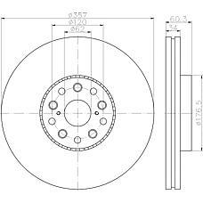 TEXTAR 92224203 (4351650010) диск тормозной