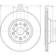 TEXTAR 92224403 (4243250010) диск тормозной задний\ Lexus (Лексус) ls 460 / 460l / 600h IV 06>