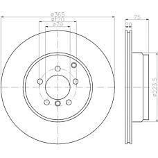 TEXTAR 92224803 (LR011891 / LR031846) диск тормозной