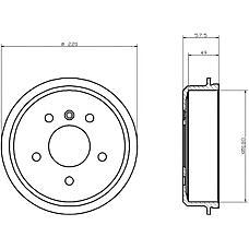 TEXTAR 94020200 (1684230201 / 1684230401 / A1684230201) барабан тормозной\ mb w168 1.4 / 1.6 97>