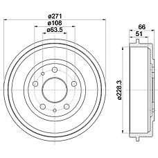 TEXTAR 94027400 (1327834 / 1458826 / 3M511126AC) барабан тормозной Ford (Форд) Focus (Фокус) II 05- 1 шт (min 2 шт)