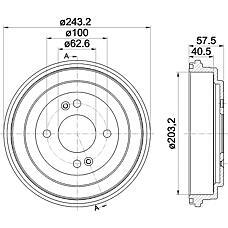 TEXTAR 94035900 (584111G000) барабан тормозной Hyundai (Хендай) Accent (Акцент) 05> / i20 08> 1шт.(min 2 шт.)