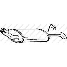 BOSAL 154-799 (6587738 / 7090353 / 154799) глушитель задняя часть\ Ford (Форд) Fiesta (Фиеста) 1.1i 91-96