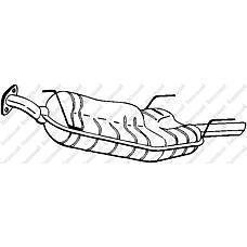 BOSAL 185-109 (852418 / 5852898 / 24422470) глушитель задняя часть\ Opel (Опель) vectra 2.0di / dti 96-02