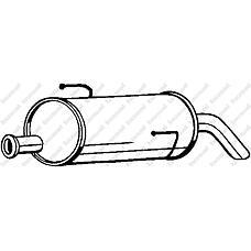 BOSAL 190001 (173020) глушитель выхлопных газов конечный