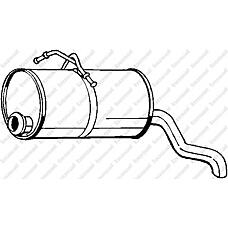 BOSAL 190-129 (1730Q1 / 1726VC / 1726VE) глушитель (задняя часть)