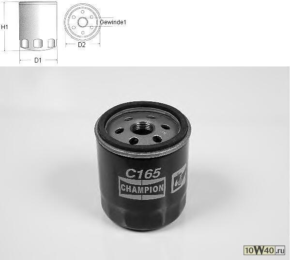 заменен на xfm-cof100165s фильтр масляный