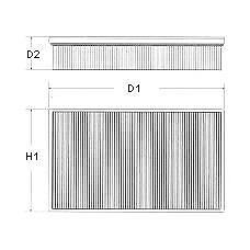 CHAMPION U543/606 (9626759680 / 1444F3 / 1444A9) фильтр воздушный