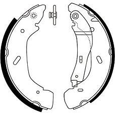 JURID 362415J (4055724 / 4143208 / 4455986) колодки тормозные барабанные