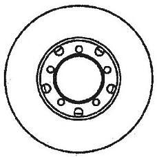 JURID 561574J (1404230412 / 561574) диск торм. mb 140 задн. вент. 1 шт