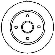 JURID 561678J (5026784 / 93BX1125AC / 4070865) Диск тормозной передний FORD COUGAR 1998 2001, MO FORD Mondeo (Мондео) II/Scorpio (Скорпио) II
