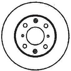 JURID 561711J (45251SH1A00 / 45251SH3A00 / 45251SR3A10) диск торм. Honda (Хонда) Civic (Цивик) IV / V 91>95>01 передний . 1 шт (min 2 шт)