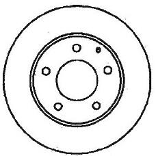 JURID 561716J (GA5Y3325X / GA2Y3325X / GA4Y3325X) диск торм. Mazda (Мазда) 626>97 перед. вент. 1 шт (min 2 шт)