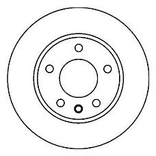 JURID 561856J (3A0615301A / 3A0615301 / 561856J) диск торм. VW Passat (Пассат) / Golf (Гольф) / vento 1.9 / 2.0 / 2.8 перед. вент. 1 шт (min 2 шт)