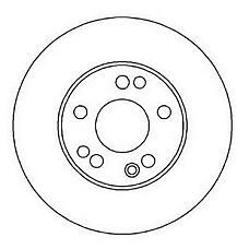 JURID 561874J (1244212412 / 561874) диски mb w124 2.8 / 3.2 / 4.0 92> передние к-кт