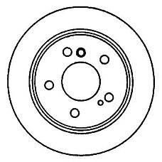 JURID 561990J (34111158550 / 34111165263 / 561990J) диск торм. BMW (БМВ) e34 525i x перед. вент. 1 шт (min 2 шт)