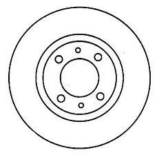 JURID 562011J (MB699283 / MB950922 / MB699282) диск торм. Mitsubishi (Мицубиси) Carisma (Каризма) / lanser / Colt (Кольт) перед. вент. . 1 шт (min 2 шт)