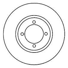 JURID 562038J (1E0333251 / 1013581 / 1112542) диск торм. Ford (Форд) Fiesta (Фиеста) / Ka (Ка) перед.не вент. 1 шт (min 2 шт)