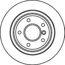 JURID 562062J (34211164129 / 34211163669 / 562062) диск торм. BMW (БМВ) e39 задний . 1 шт (min 2 шт)
