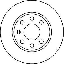 JURID 562068J (569058 / 9117676 / 90497303) диск торм. Opel (Опель) Astra (Астра) 00> перед. 1 шт (min 2 шт)