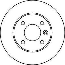 JURID 562071J (569108 / 569111 / 9196587) диск тормозной задний (4 болта) Opel (Опель) Astra (Астра) h 1,4 / 1,6 / 1,8 04->